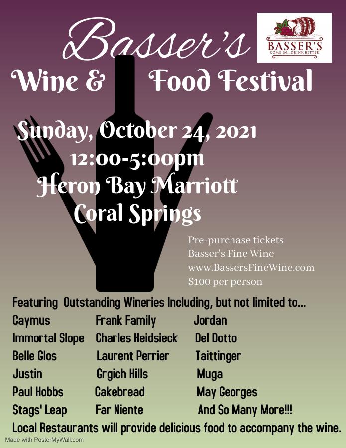Basser's Food & Wine Festival