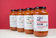 Lynora's sauce line, available at Whole Foods, courtesy of Lynora's