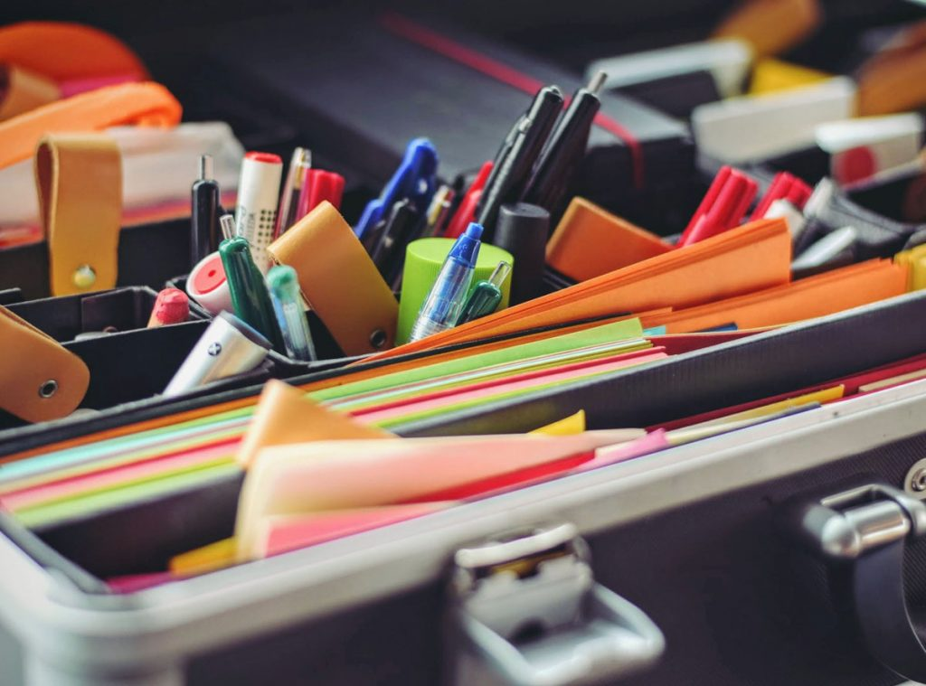 School Supplies, school supply drive at Palm Beach Outlets, photo by Tim Gouw via Unsplash