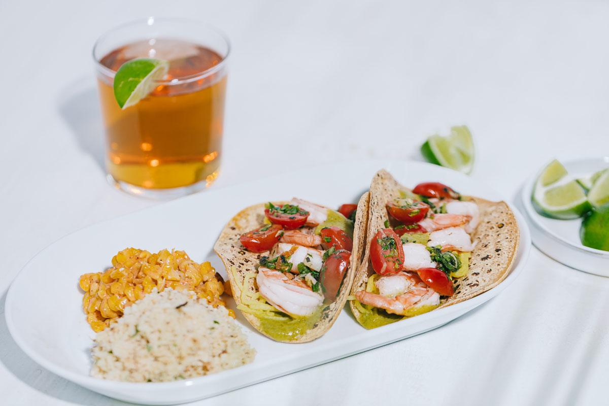 Shrimp tacos at True Food Kitchen