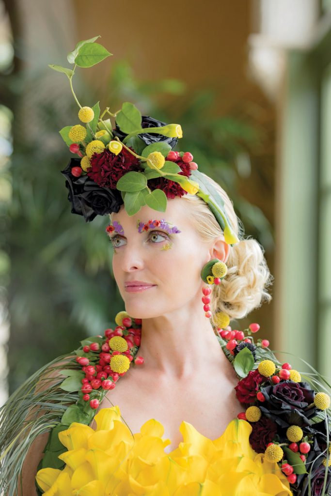 Design by The Special Event Resource and Design Group, worn by Tiffany Marks Isaac, photo and styling by Chris Joriann