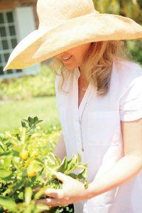 Tammy Fender tending to her garden