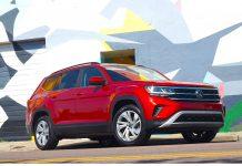 Volkswagen Atlas side, front view