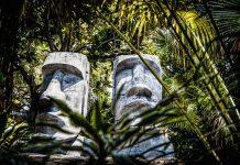 """""""Moai at Mounts Botanical Garden,"""" photo by Dennis P. León"""