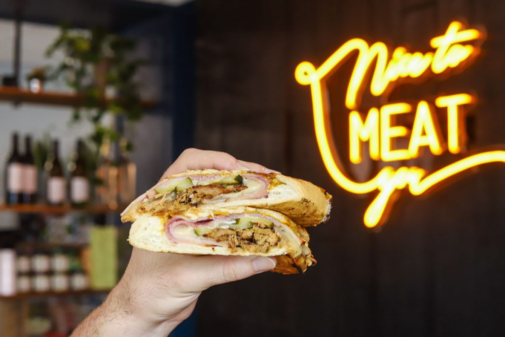 Cuban sandwich with smoked ham and braised Kurobuta pork, photo by Visual Honey