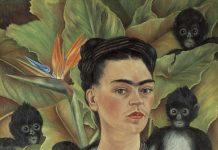 Self-Portrait with Monkeys, Frida Kahlo. Image courtesy 2021 Banco de México Diego Rivera Frida Kahlo Museums Trust, Mexico, D.F.:Artists Rights Society (ARS), New York